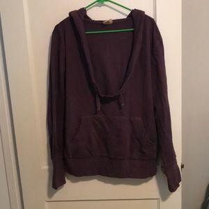 Mossimo Supply Co hooded cowl neck sweatshirt